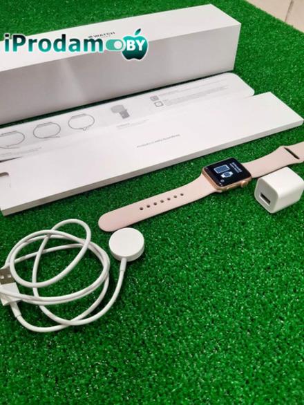 Apple Watch Series 3 38 mm Gold Aluminum Pink Sand Sport Band
